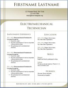 Free CV template 1