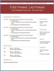 Free CV template #10