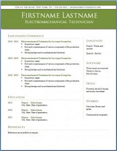 Free CV template #11