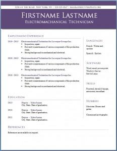 Free CV template #12