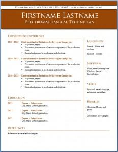 Free CV template #13
