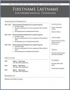 Free CV template #14