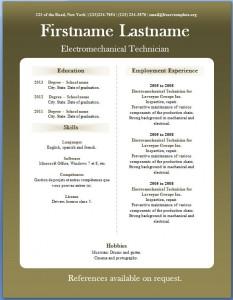 Free CV template #16