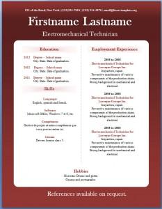 Free CV template #17