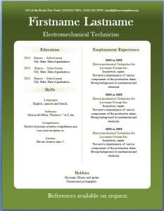 Free CV template #18