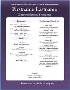 Free CV template #19