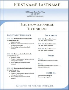 Free CV template 2