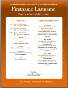 Free CV template #20