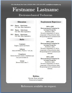 Free CV template #21