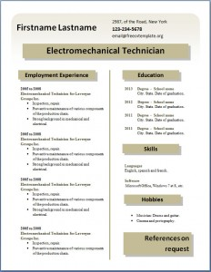 Free CV template #22