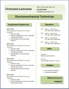 Free CV template #25