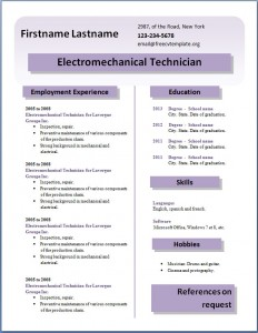 Free CV template #26