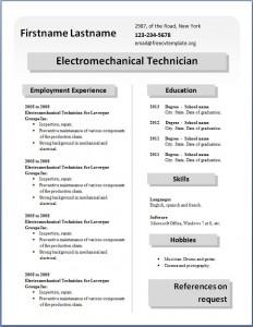 Free CV template #28