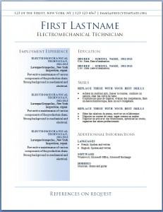 Free resume CV template #36