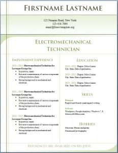 Free CV template 4