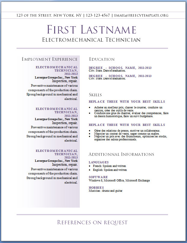 download resume examples free