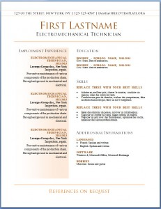 Free resume CV template #41