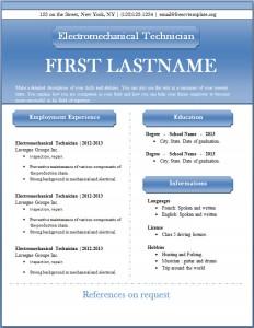 Free CV template #43