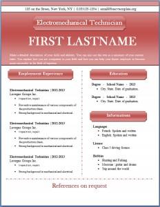 Free CV template #44
