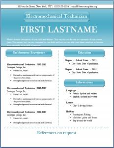 Free CV template #47