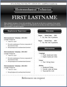 Free CV template #49