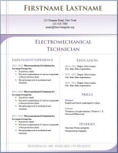 Free CV template 5
