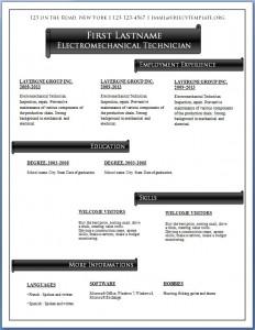 Free CV template #57