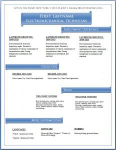 Free CV template #58