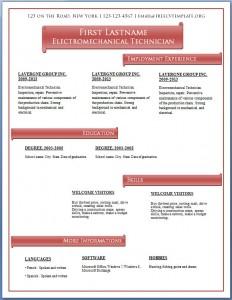 Free CV template #59