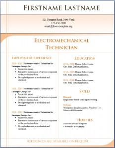 Free CV template 6