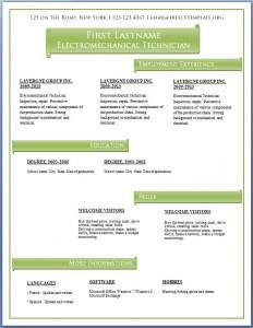 Free CV template #60