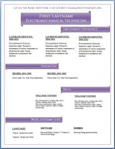Free CV template #61