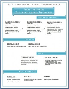 Free CV template #62