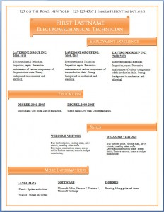 Free CV template #63