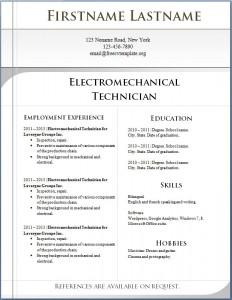 Free CV template 7