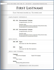 Free CV template #72