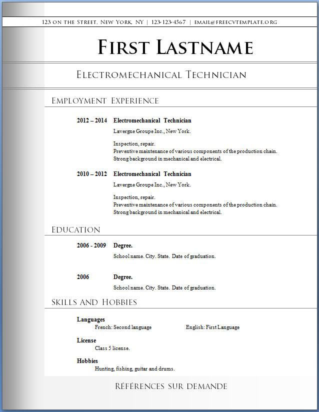 Original CV Template #72