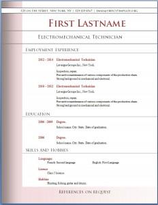 Free CV template #75