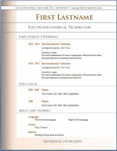 Free CV template #78
