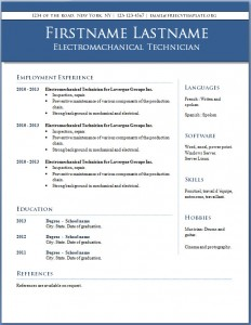Free CV template #8