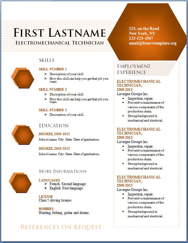 CV Template #84