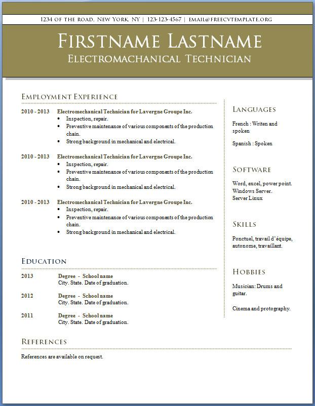 CV templates #8 to 14