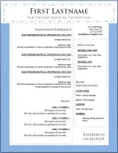 Free cv resume template #100