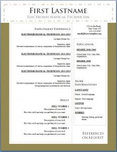 Free cv resume template #101