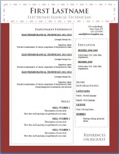 Free cv resume template #102