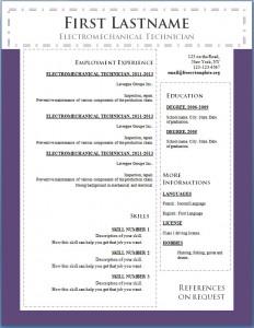 Free cv resume template #104