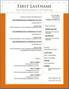 Free cv resume template #105