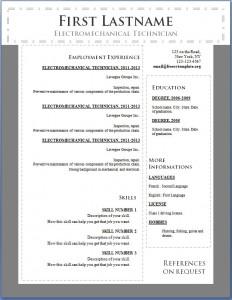 Free cv resume template #106