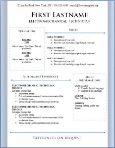 Free CV Template #86
