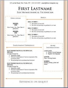 Free CV Template #91